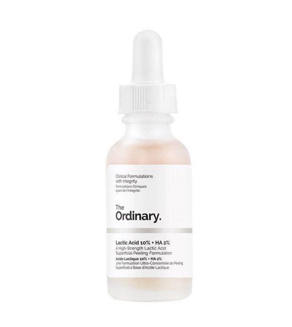 The Ordinary Lactic Acid 10 HA 2 có tác dụng nhanh làm sáng da và giữ ẩm cho da