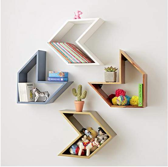 Tủ sách kệ sách treo tường kiểu dáng đáng yêu | Tủ sách kệ sách treo tường kiểu dáng đáng yêu